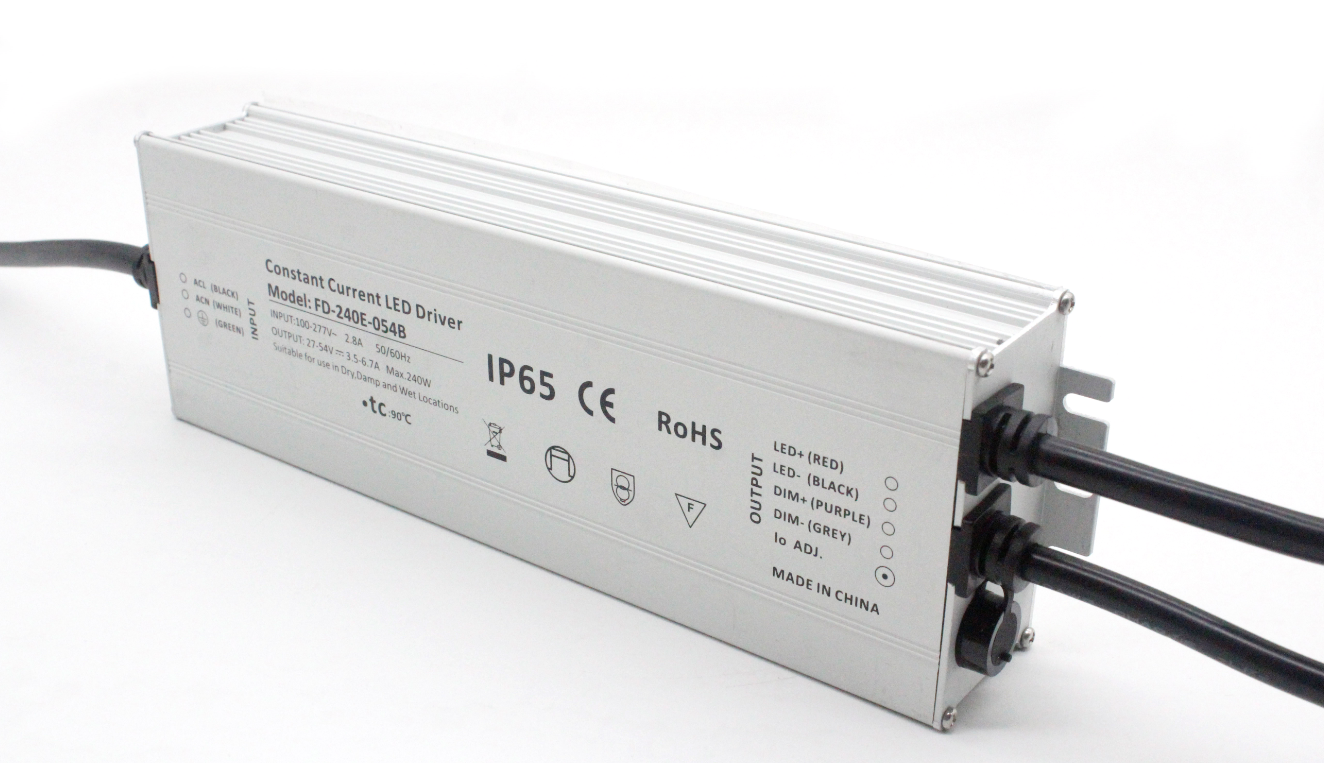 240W LED Driver for LED Street Light, High Bay Lighting
